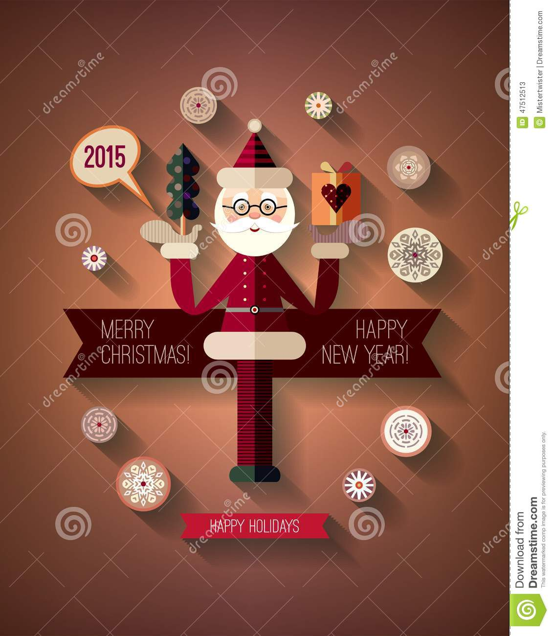 Flat design concepts for merry christmas and happy vector for New flat design ideas