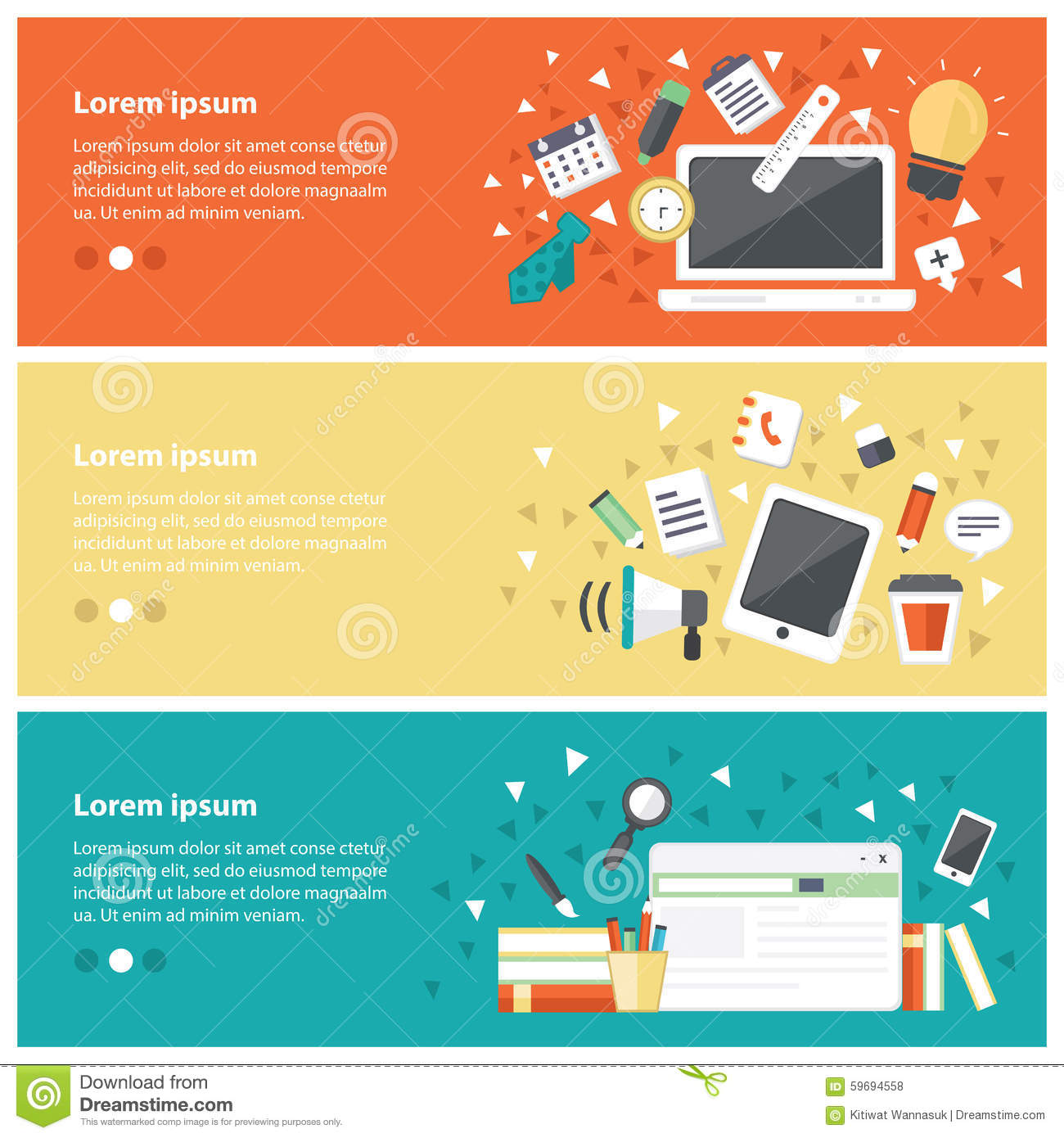 Flat Design Concepts For Online Education Online Training