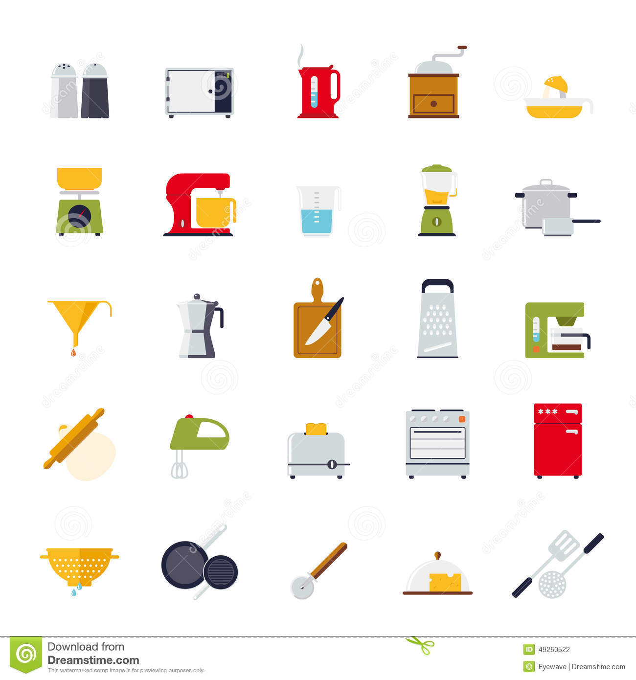 Attrayant Flat Design Cooking And Kitchen Vector Icon Collection