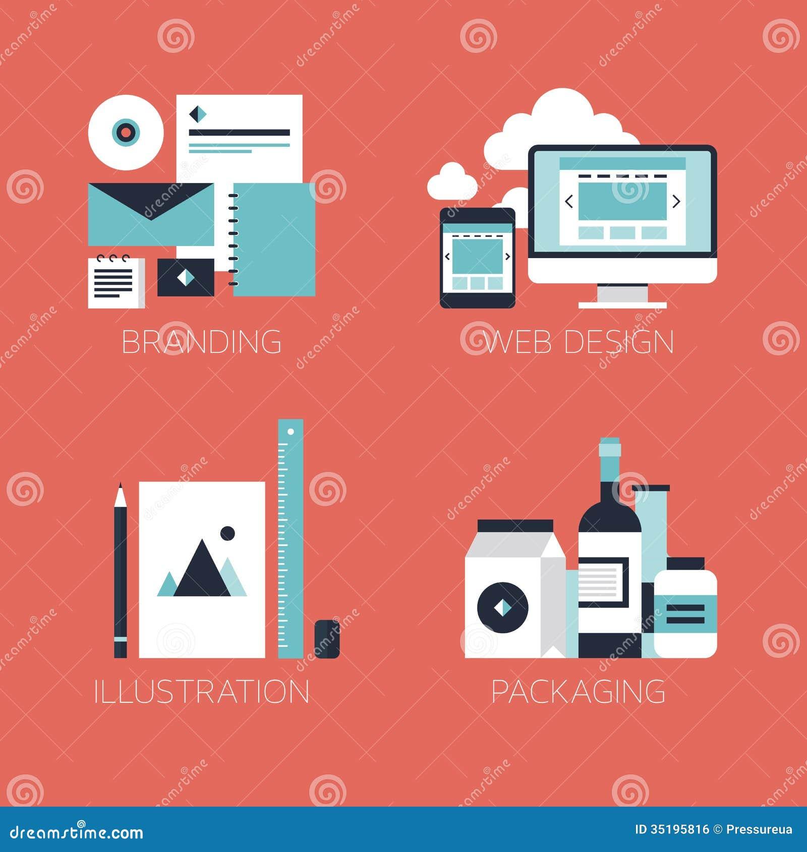 Flat Design Corporate Style Icons Royalty Free Stock Image Image 35195816