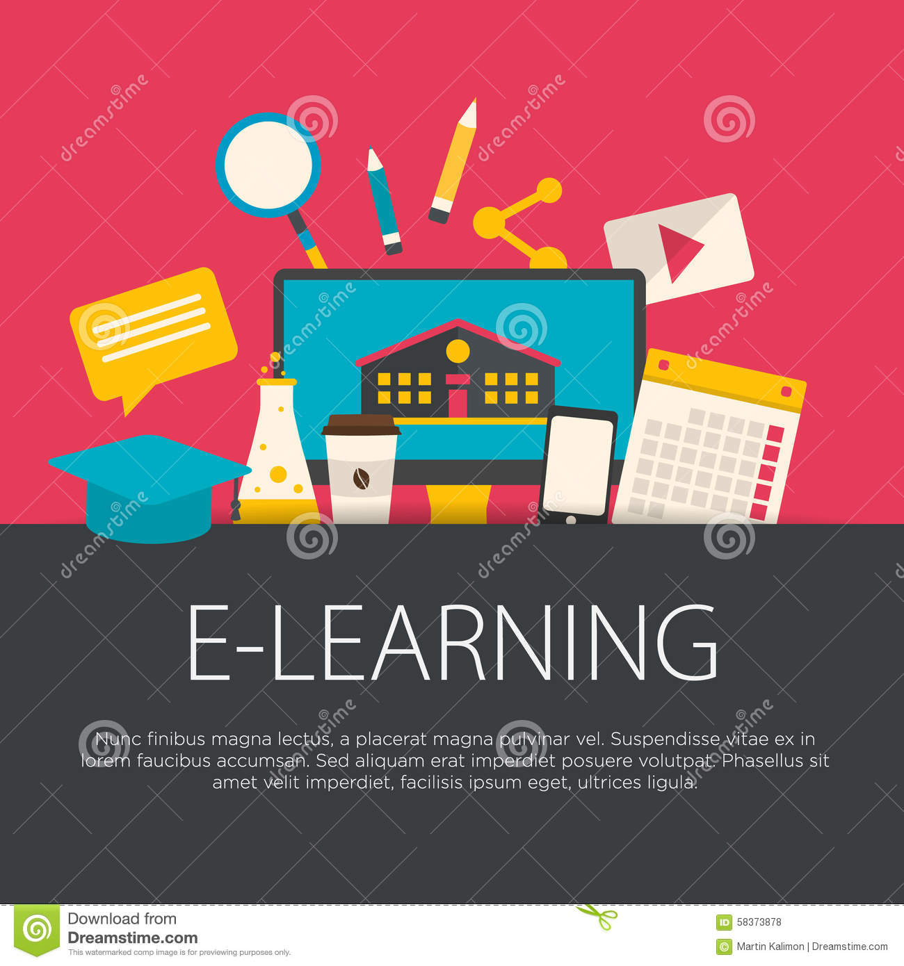 E learning poster designs - E Learning Poster Designs Flat Design E Learning Concept