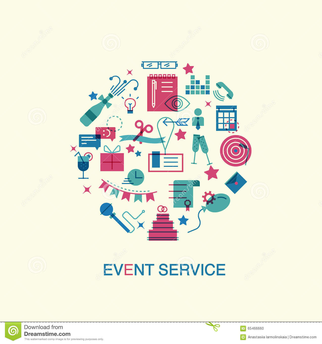 Flat design event marketing concept stock vector - Plan it event design and management ...
