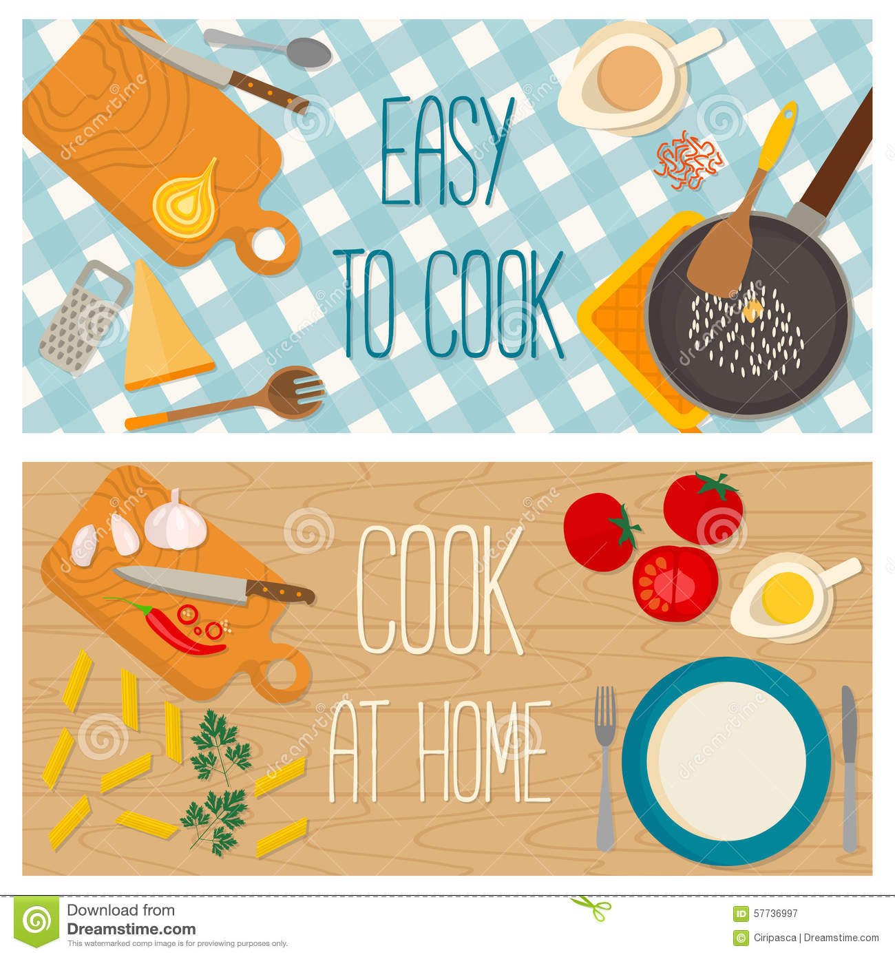 Flat design food and cooking banner stock vector illustration of flat design food and cooking banner royalty free stock photography forumfinder Gallery
