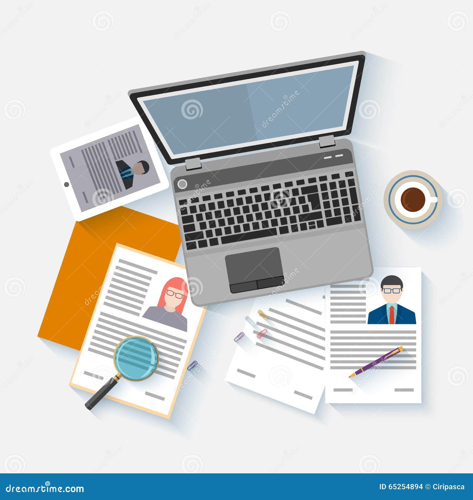 Human Resource Documents Curriculum Vitae Stock Vector - Image ...