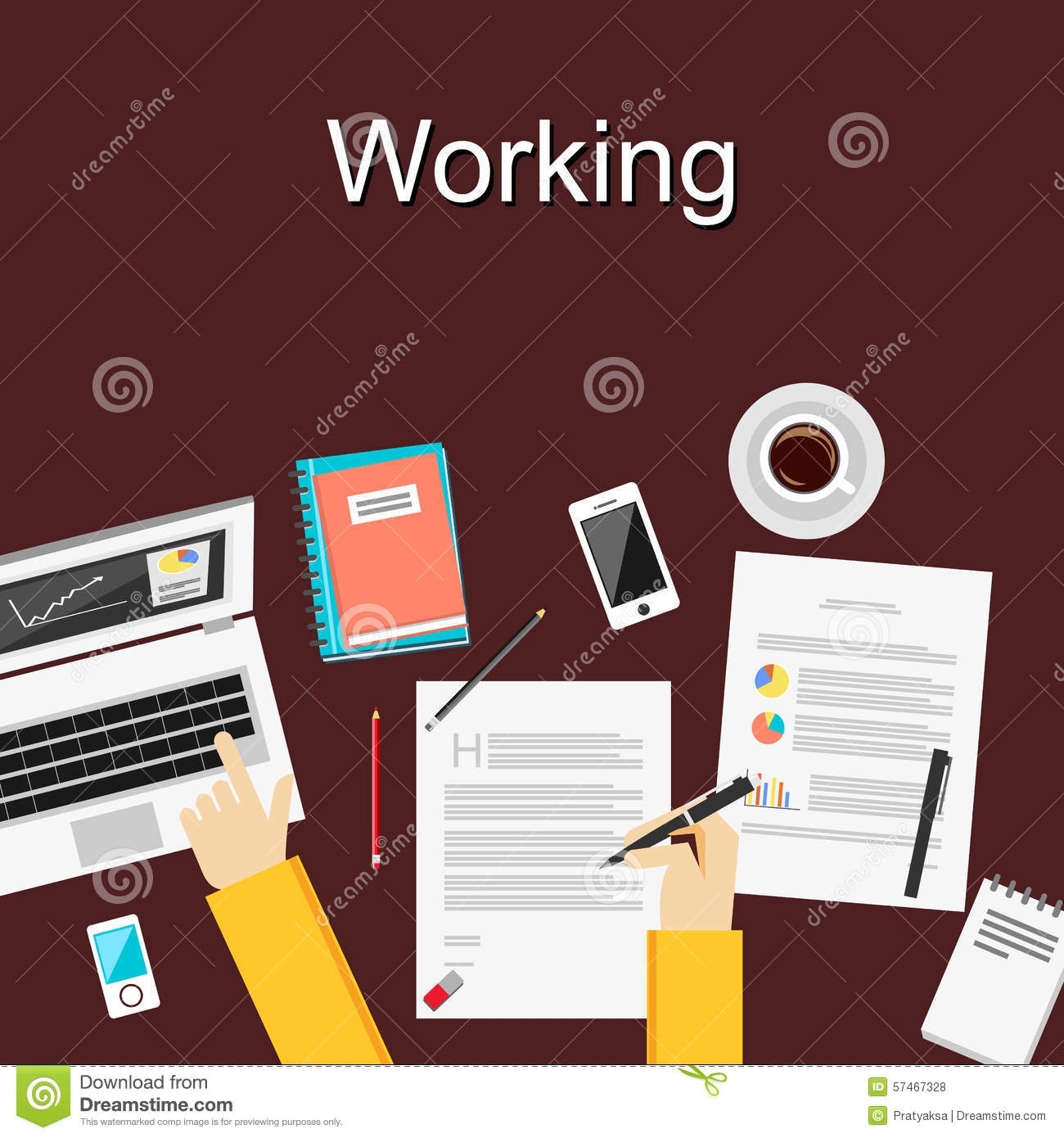 flat design illustration concepts for working study hard flat design illustration concepts for working study hard management career brainstorming