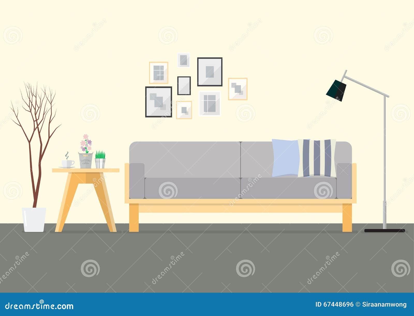 Design Flat Interior Living Room
