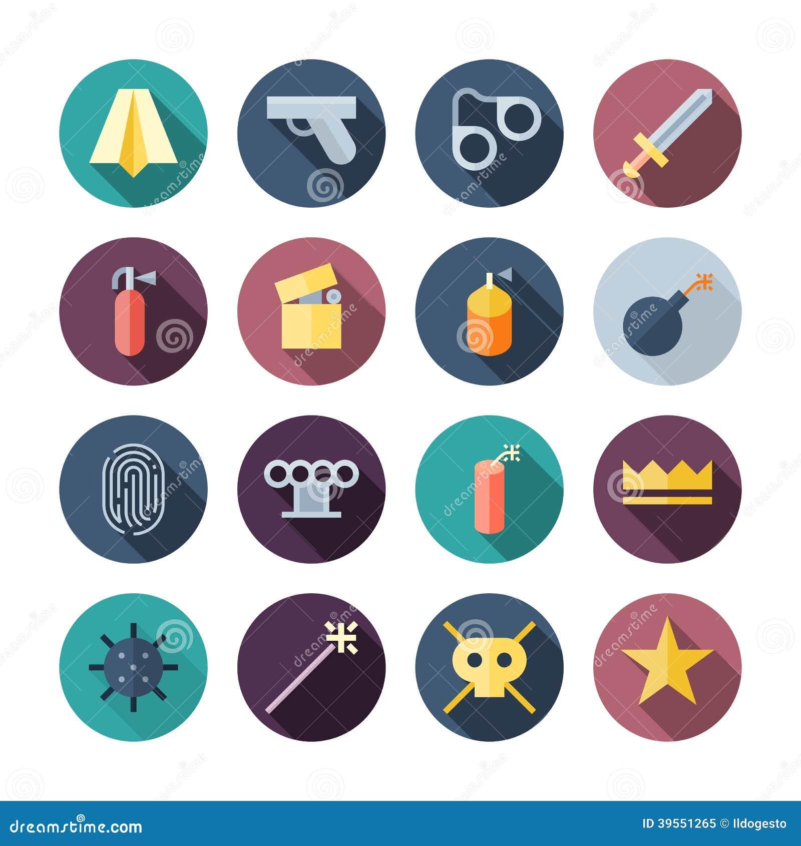 Flat Design Miscellaneous Icons