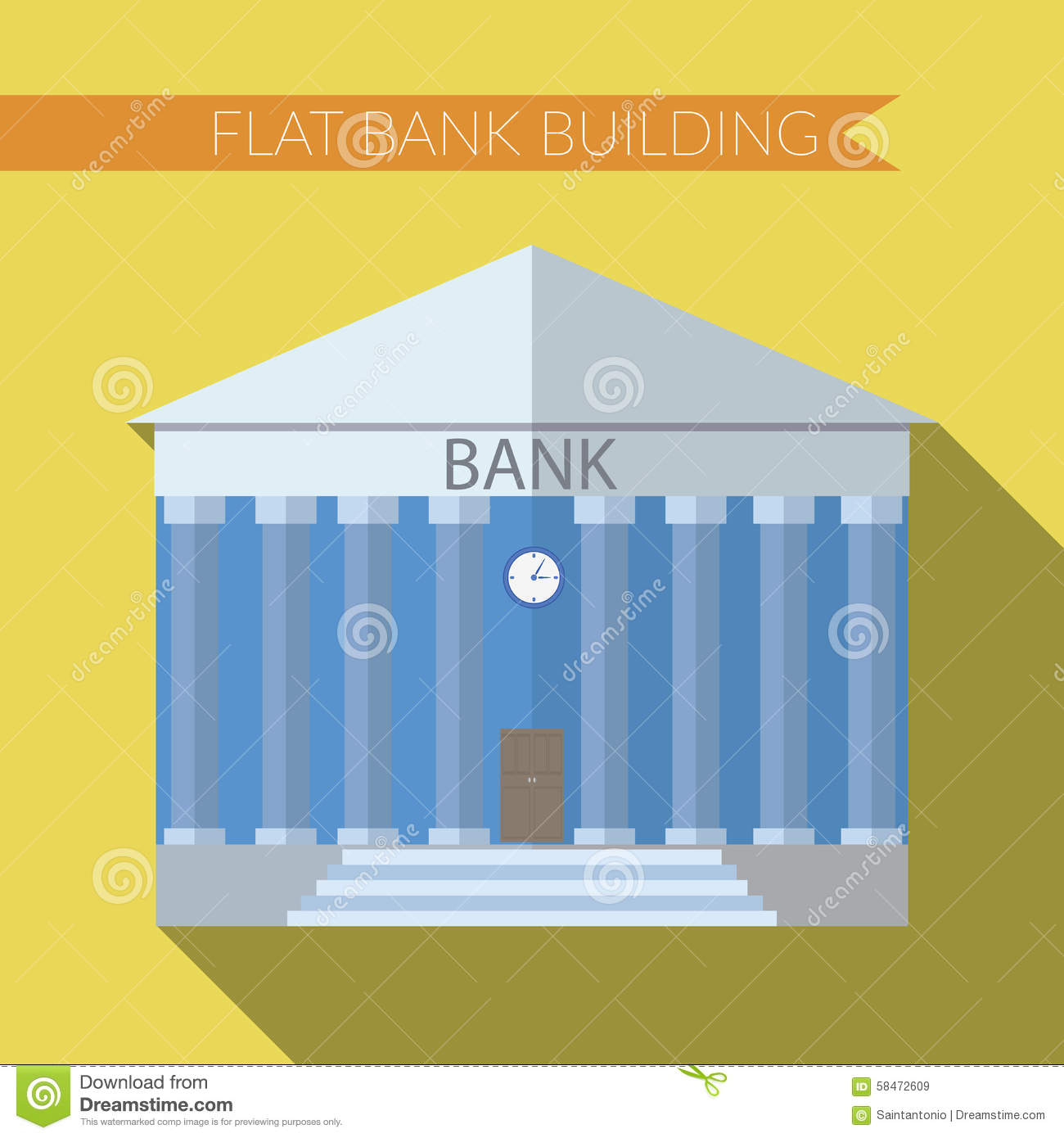 Investment icon money vector icon with long shadow for Modern bank building design