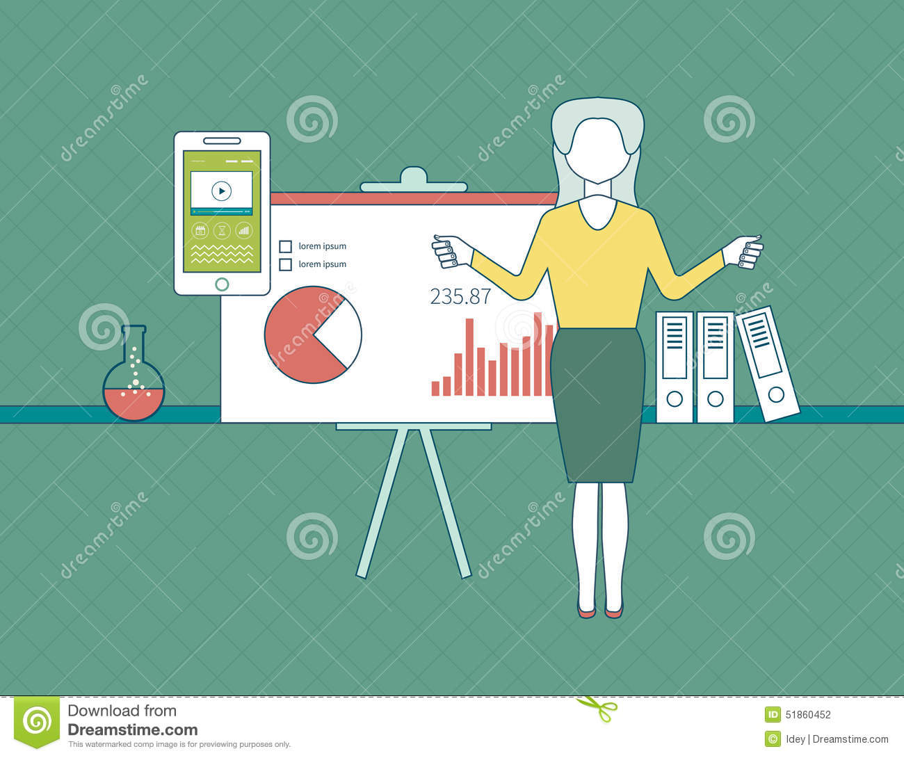 Modern Classroom Vector : Set vector flat line icons business training royalty free