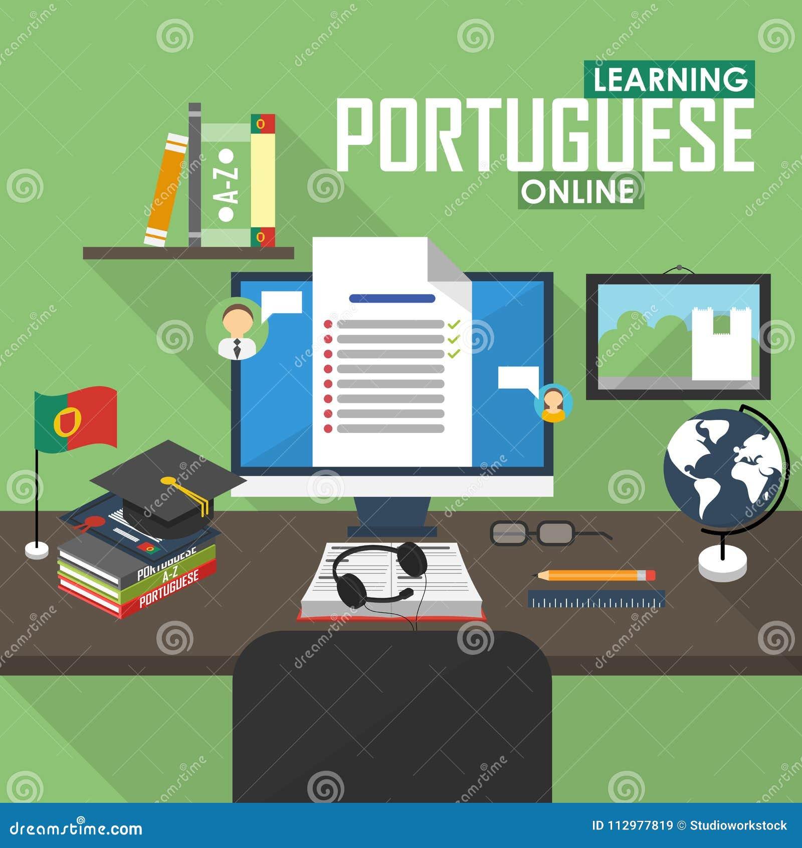 E-learning Portuguese language.