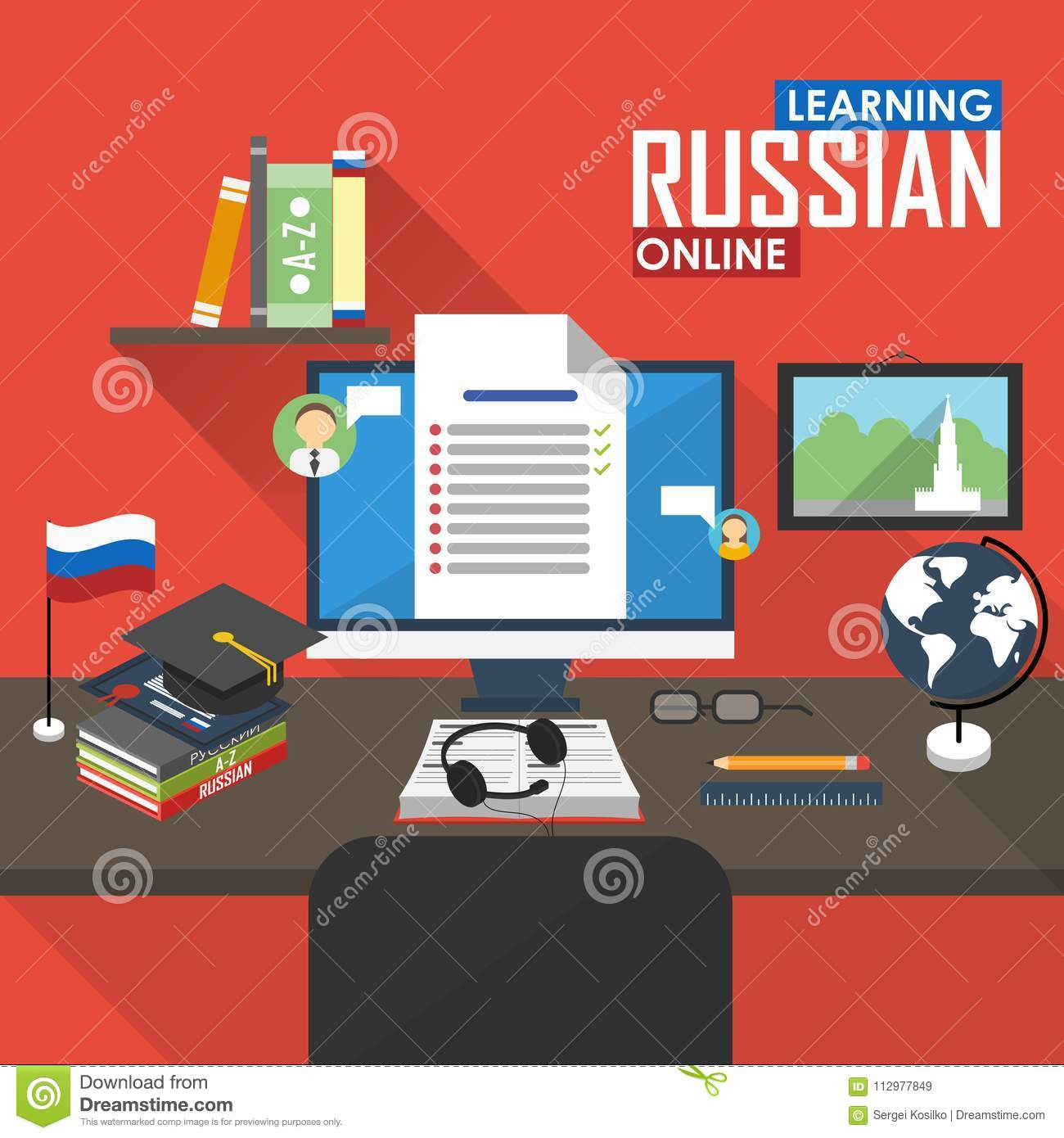 E-learning Russian language.