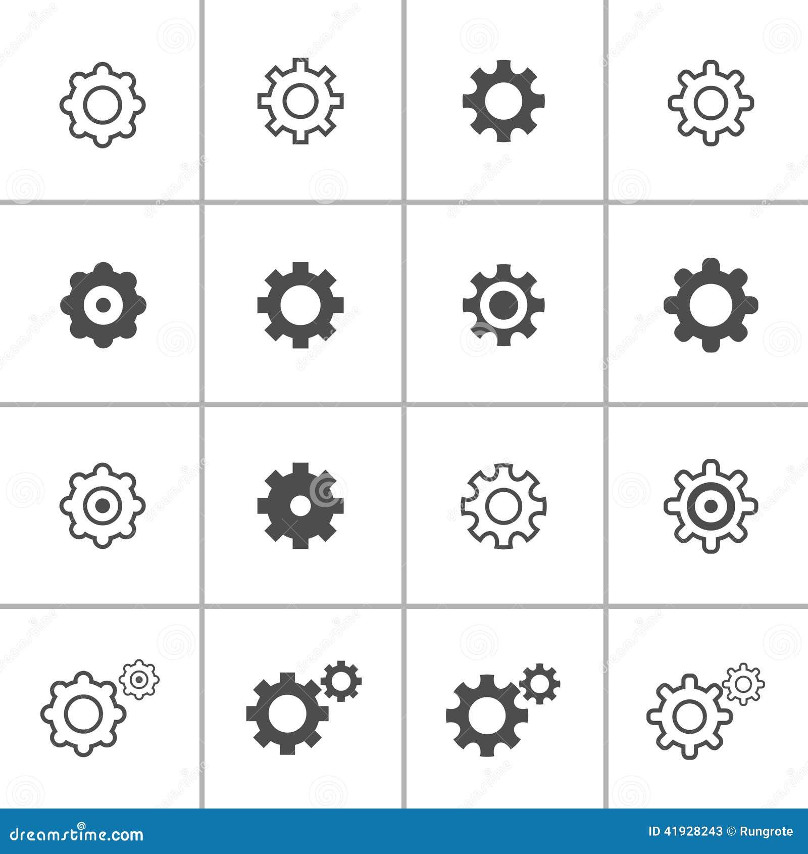 Flat Design Setting Icon Set, Vector Eps10 Stock Vector ...