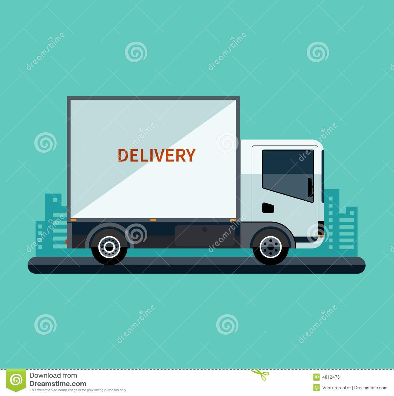 delivery truck vector - photo #19