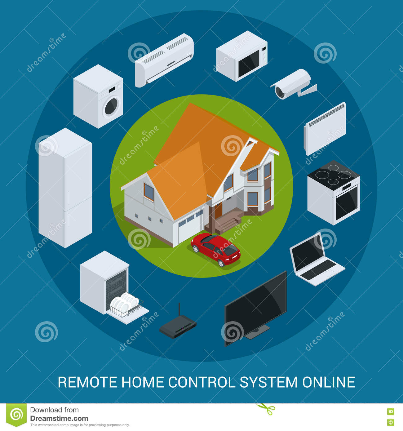 100 smart home technology system smart house technology system concept centralized stock - How to design a smart home ...