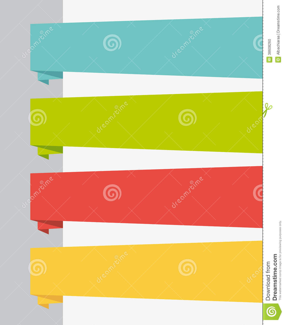 Flat Design UI Title Banners Set. Stock Photo - Image: 38608260