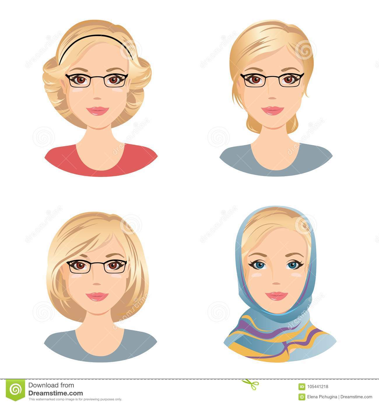 Different Female Hairstyles For The Woman With Blonde Hair Middle