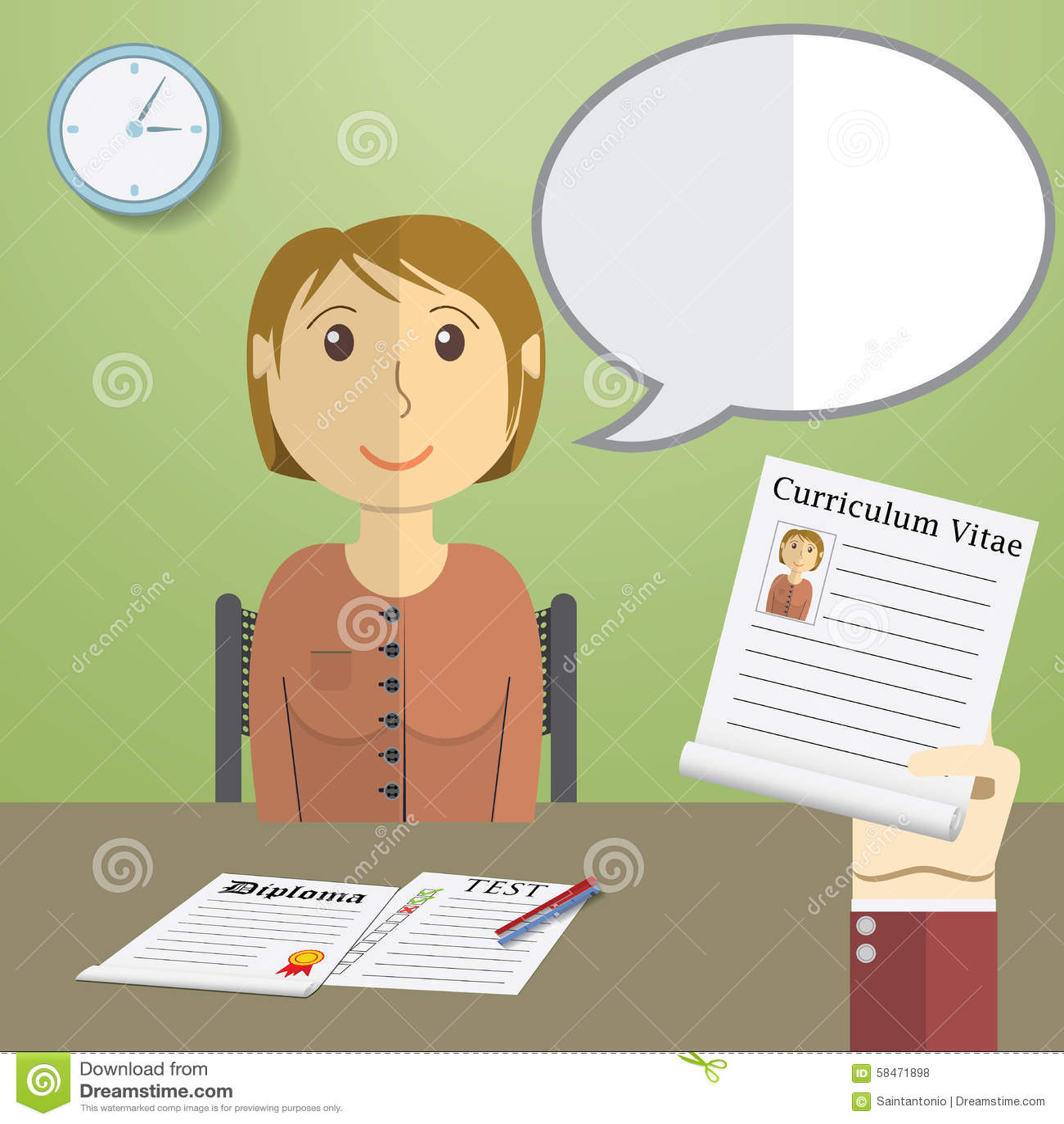 Recruitment Flat Vector Illustration Vector Illustration