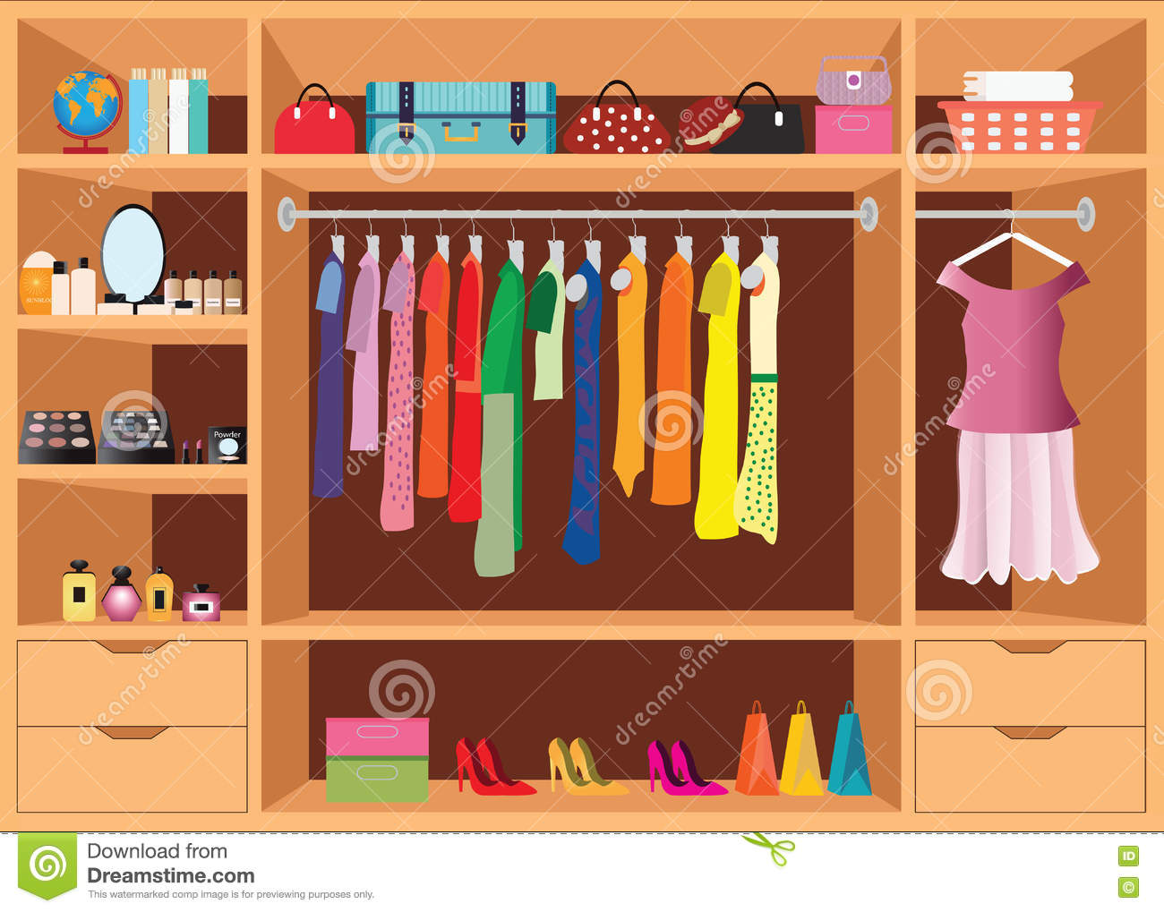 Clothing store accessories