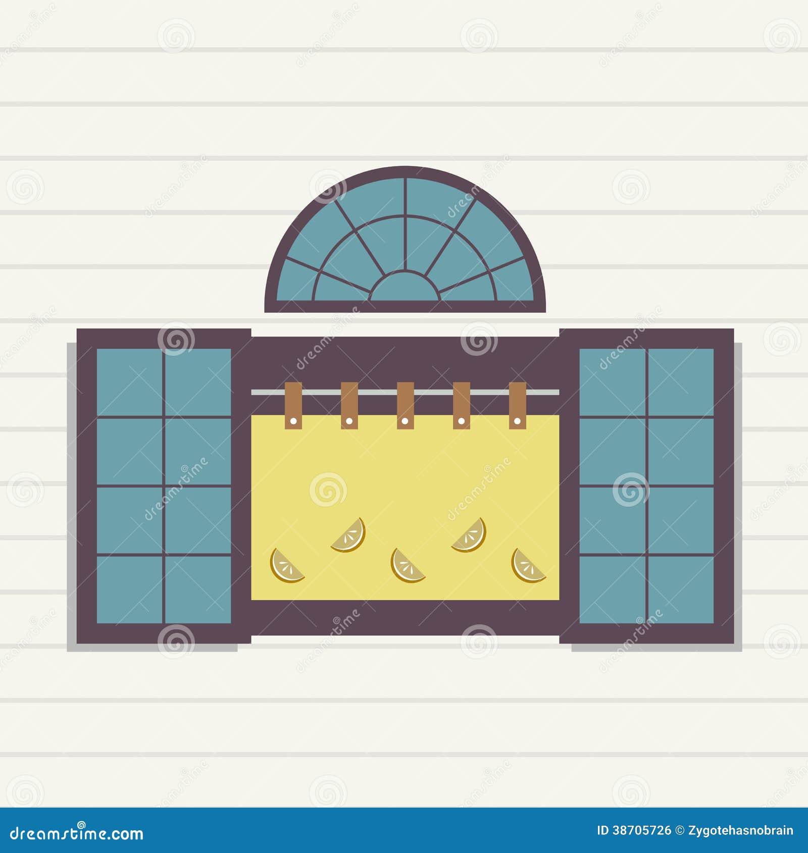 Flat design window stock vector illustration of clean for Window design vector