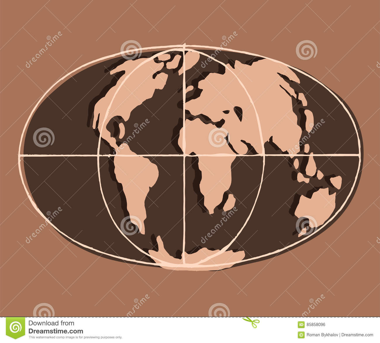 Flat Earth Map Download.Flat Earth Brown Clay Stock Vector Illustration Of Background