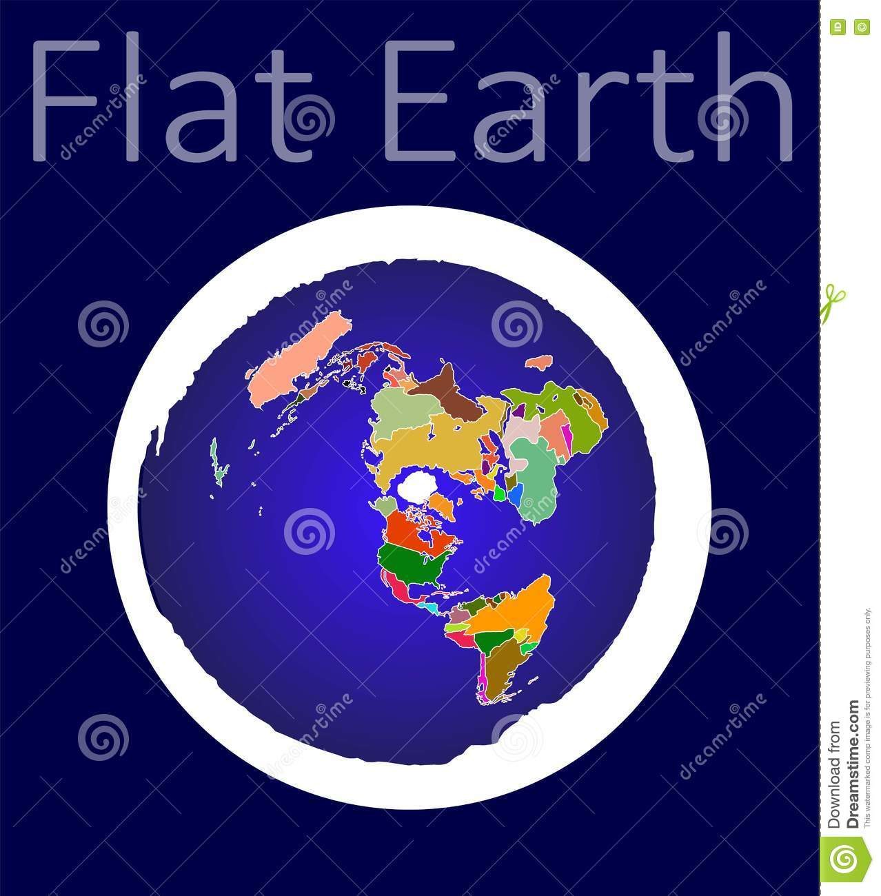 Official Flat Earth Map.Flat Earth Map Stock Vector Illustration Of Vector Flat 76007862
