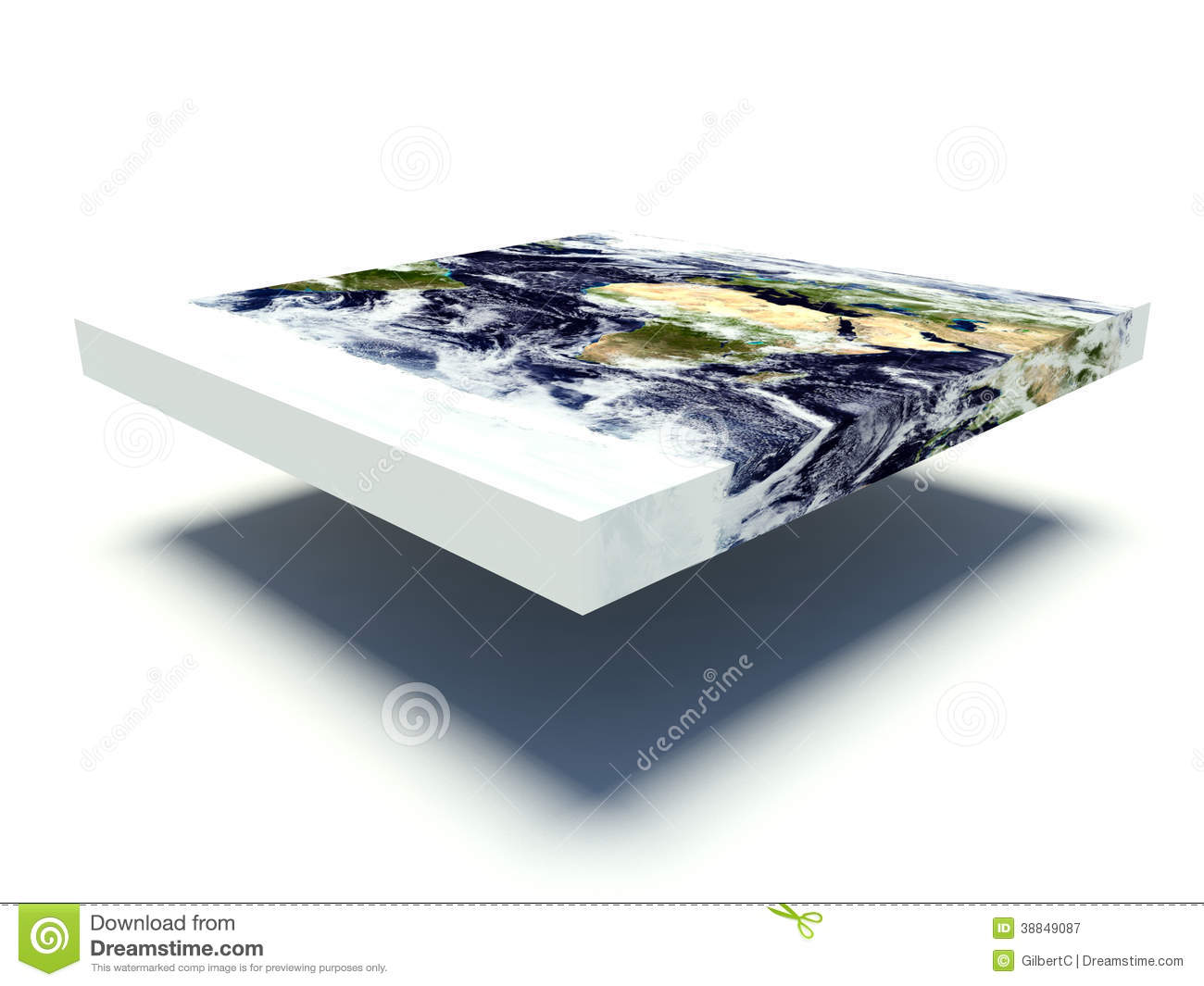 Flat earth model stock illustration image 38849087 for Model flat pictures