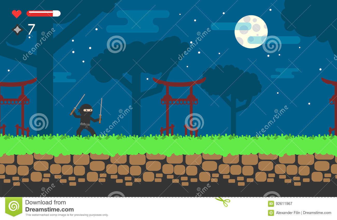 flat game about the ninja for android online flash game japanese