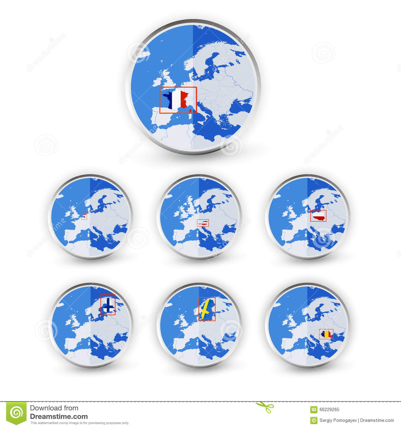 part of globe stock image