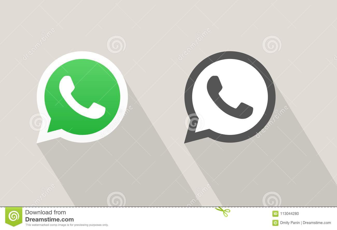 Whatsapp Messenger Call Vector Icon Editorial Image Illustration Of Mobile Media 113044280