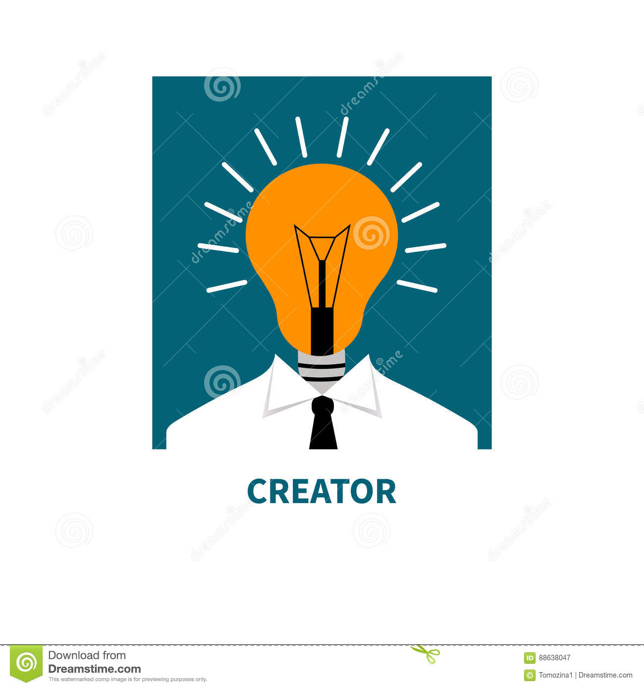 Flat Icon Business Thinking Stock Vector Image 88638047