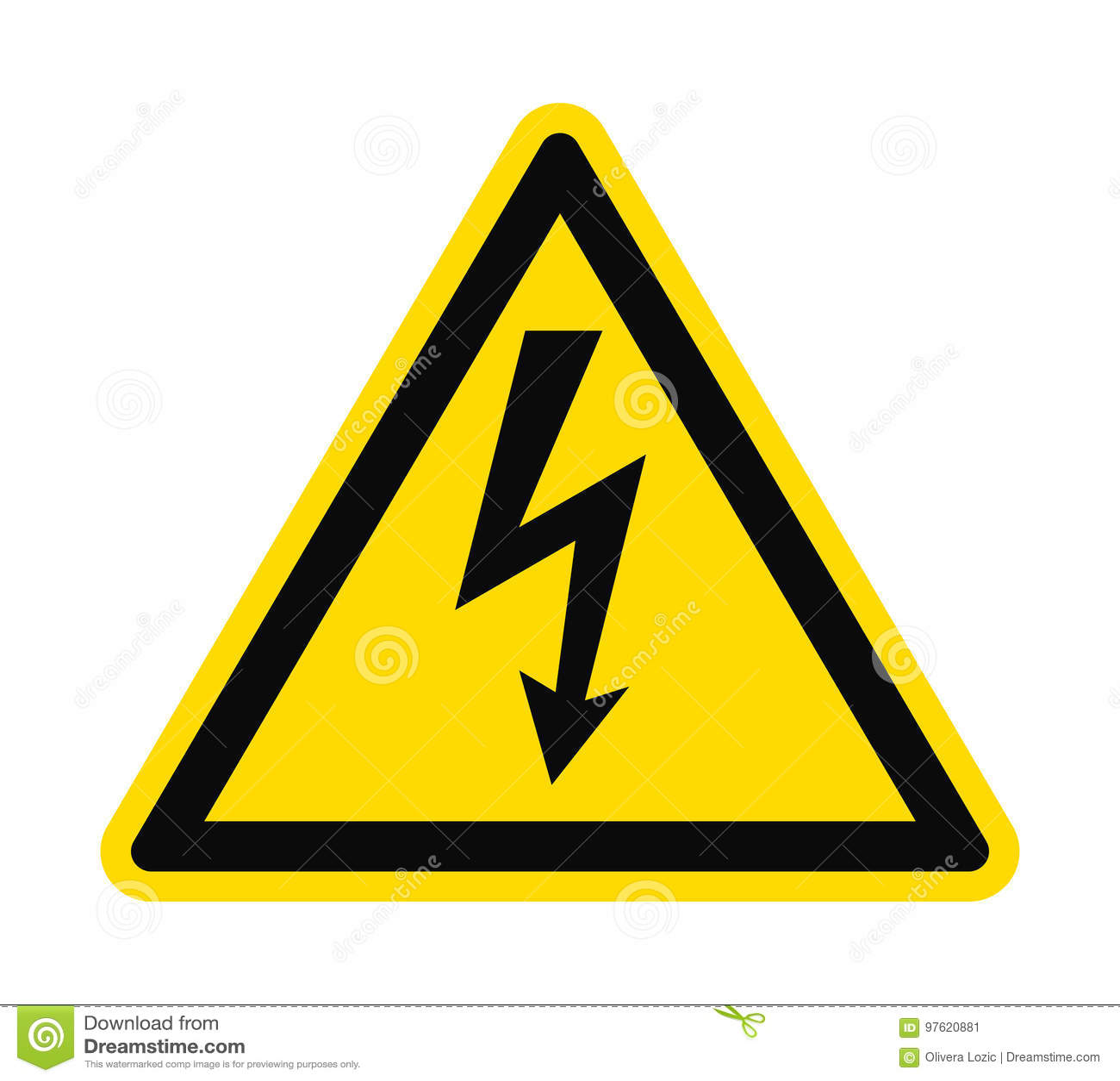 Flat icon danger high voltage