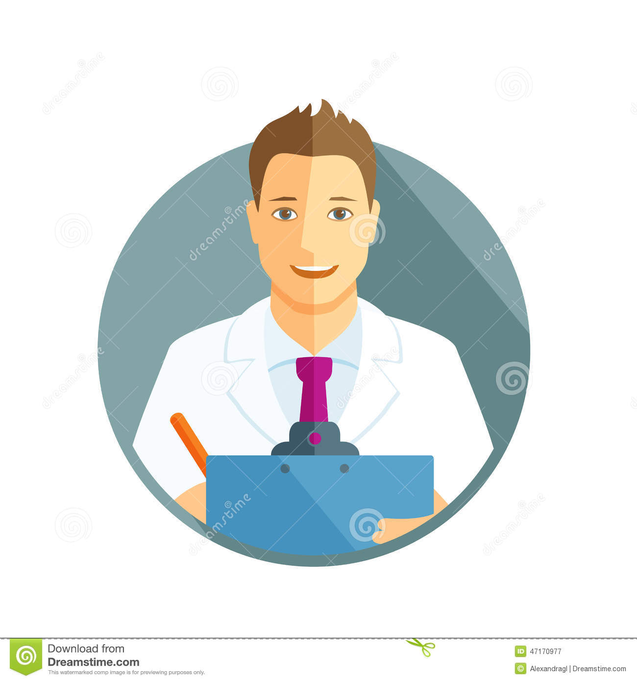Flat icon of a doctor stock vector. Image of doctor, male ...