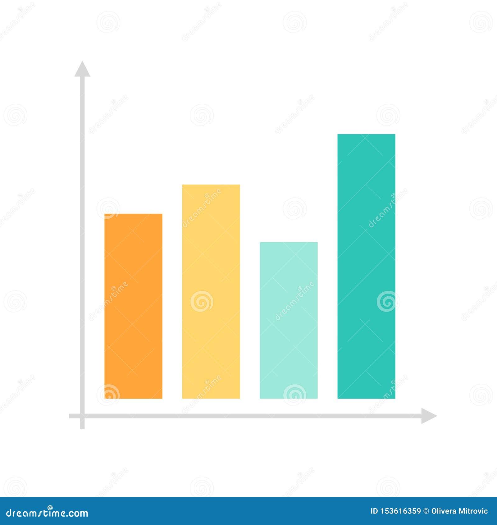 Flat icon graph