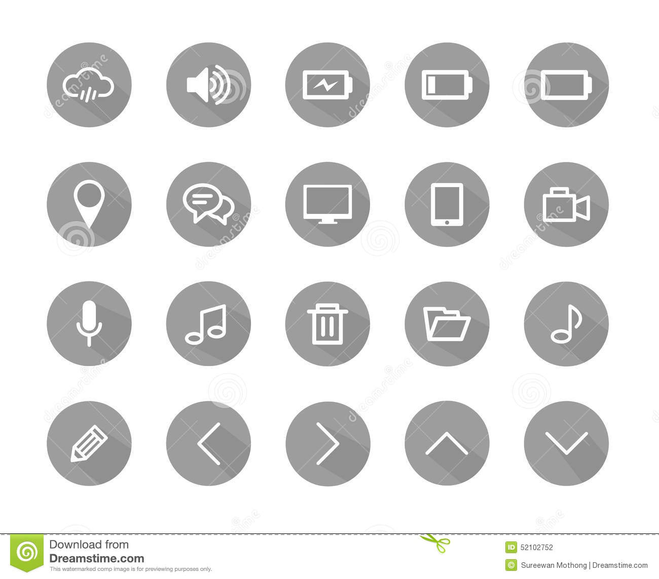 flat icon grey color flat icons icons set icons vector