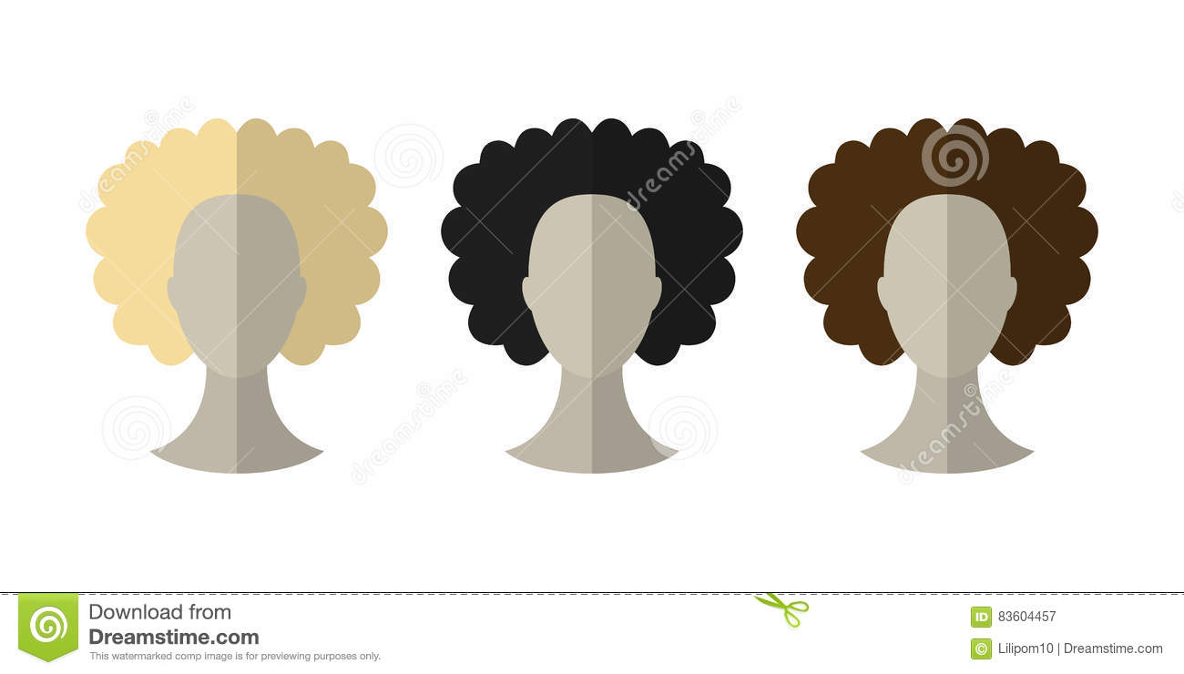 Different Hair Colors And Styles: Woman With Different Hair Color And Hairstyles Stock