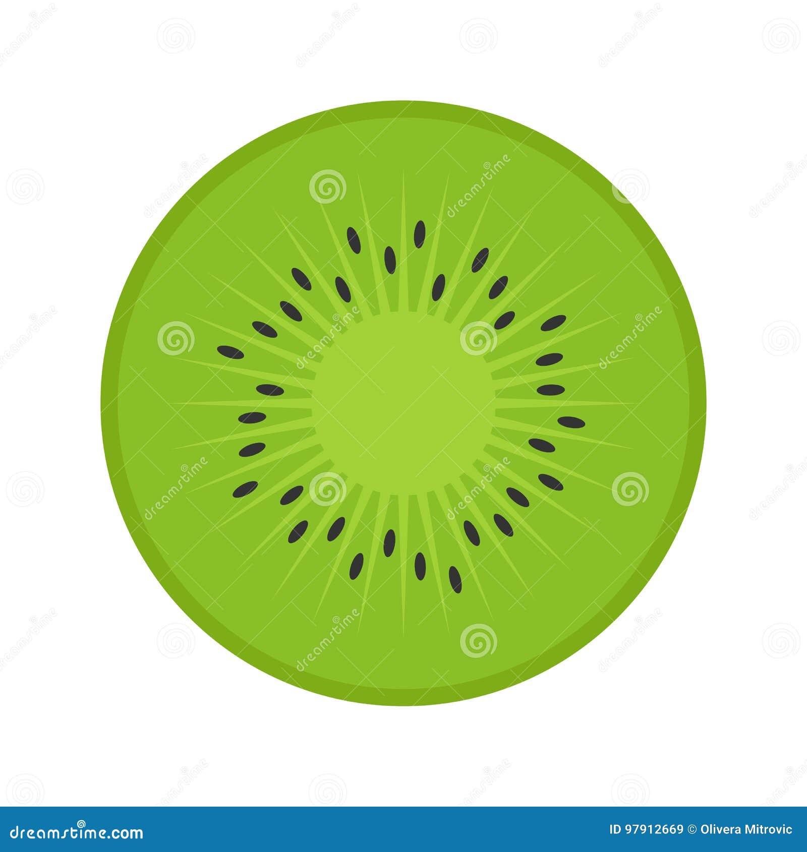 Flat icon kiwi