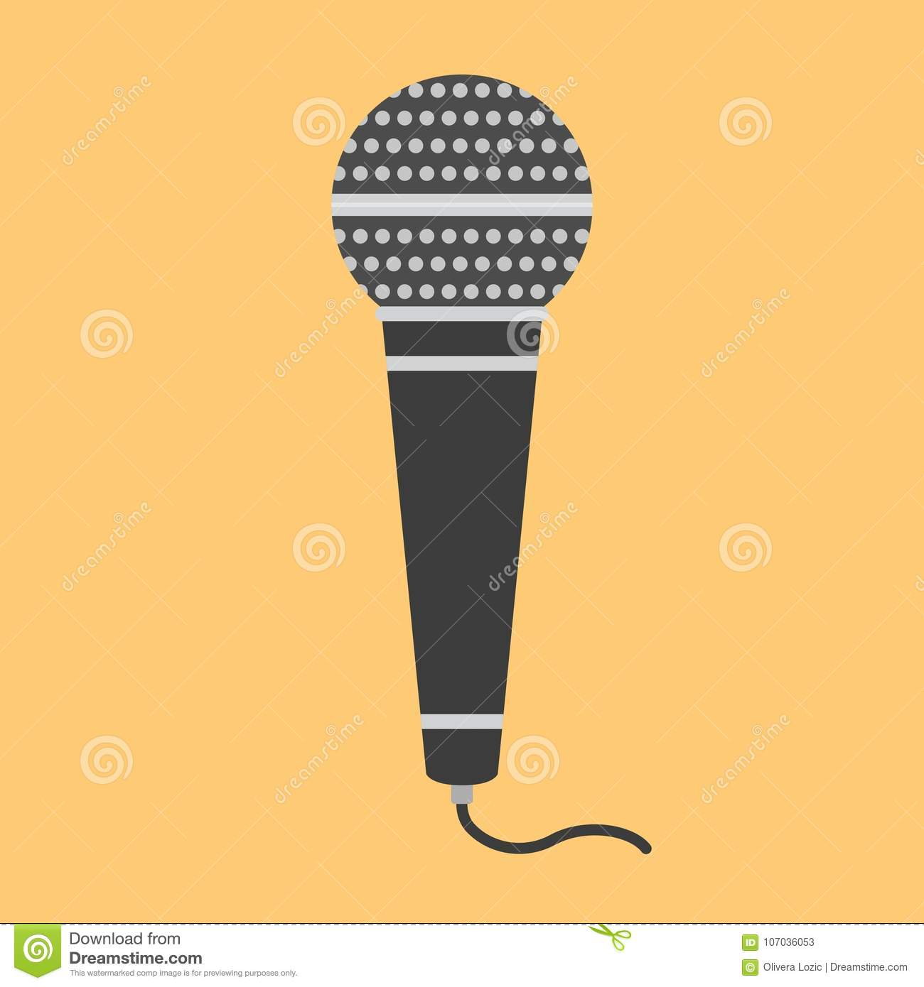 Flat icon microphone