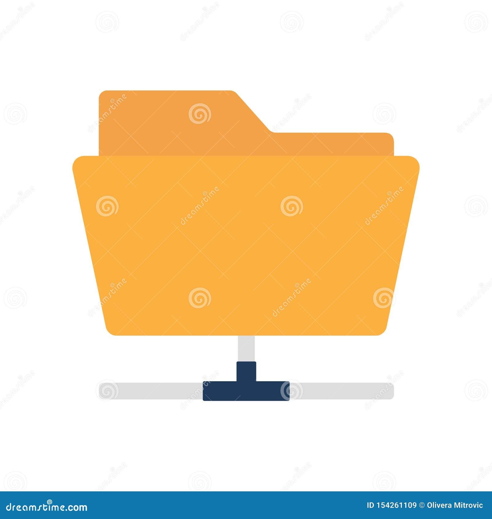 Flat icon sharing folder