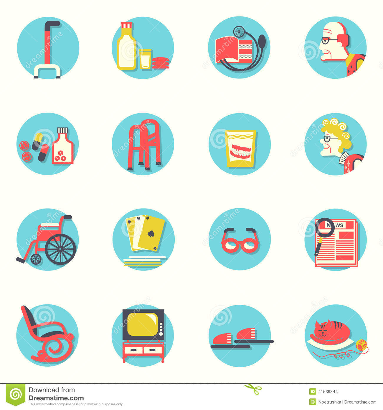 Flat Icons.Elderly Peo...