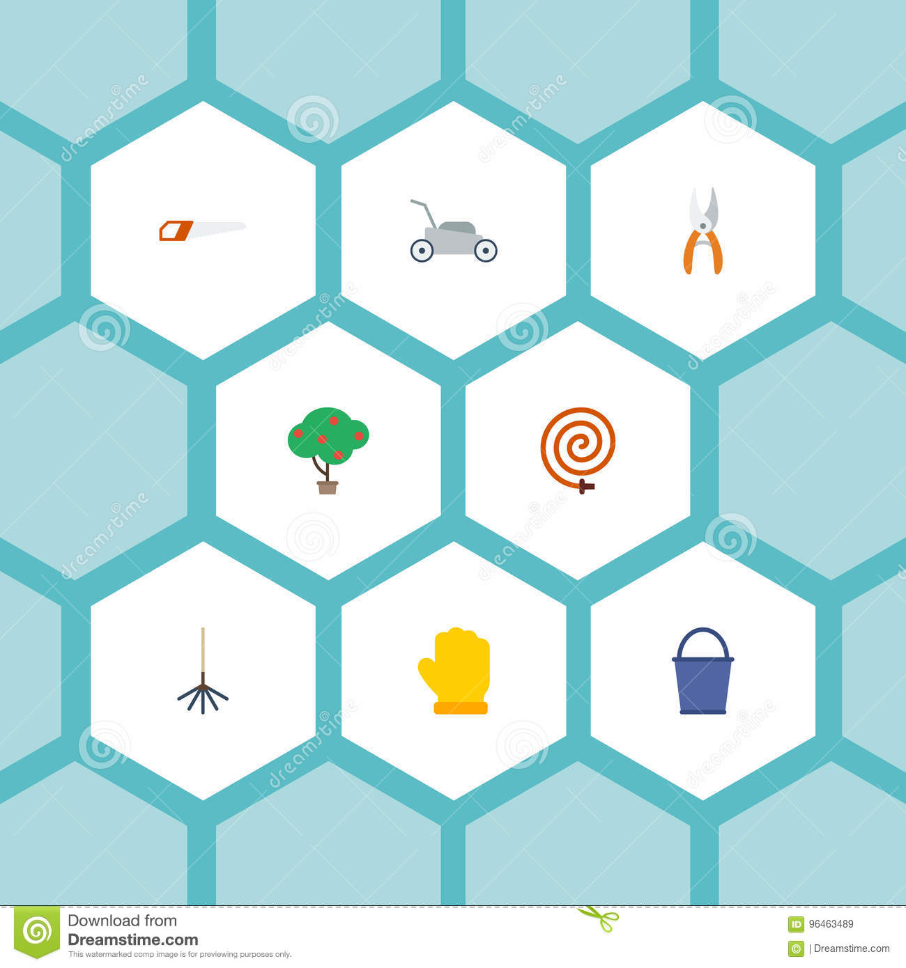 Flat icons green wood bucket latex and other vector elements flat icons green wood bucket latex and other vector elements set of horticulture flat icons symbols also includes biocorpaavc