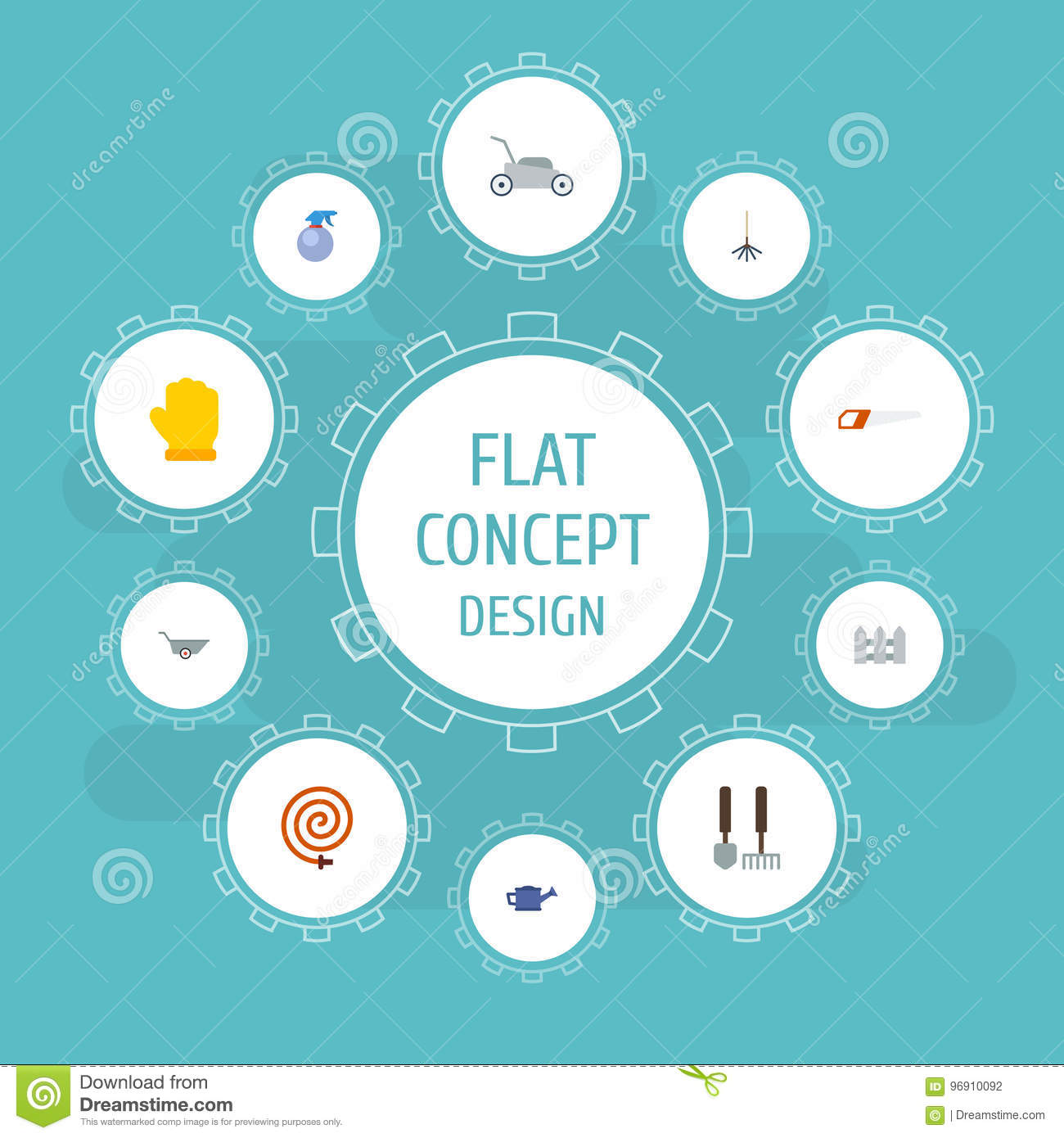Flat icons latex spray bottle tools and other vector elements flat icons latex spray bottle tools and other vector elements set of horticulture flat icons symbols also includes biocorpaavc
