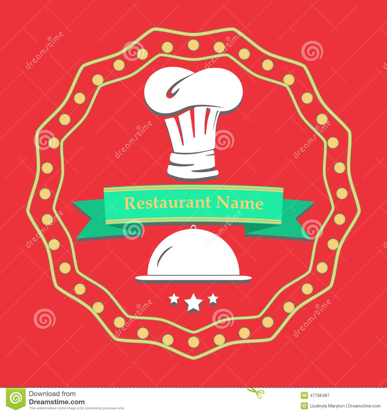 Kitchen Poster Food As Alphabet With Food Name: Flat Illustration Poster. Restaurant Name Card Stock