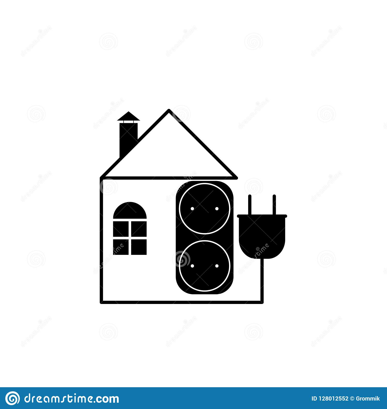 Electrical Plug Wiring For A House Library On In The Home Outlet As Flat Image With Of And An