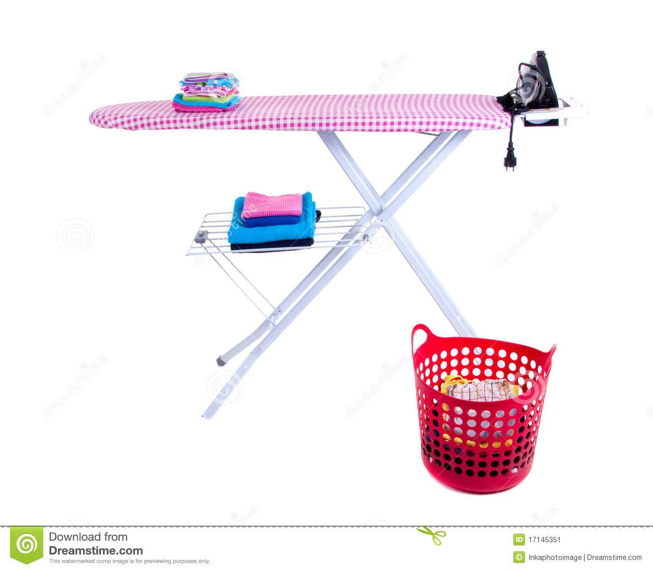 flat iron and an ironing board stock image image 17145351. Black Bedroom Furniture Sets. Home Design Ideas