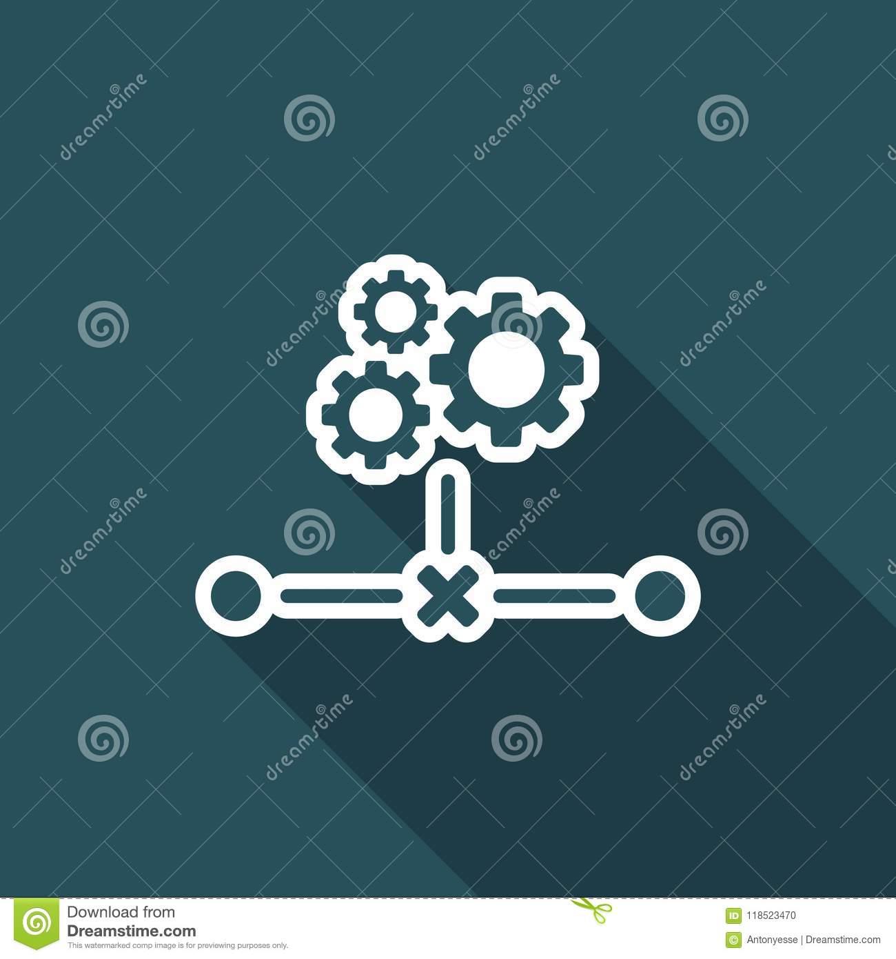 Broken Network Connection Icon Stock Vector - Illustration of ...