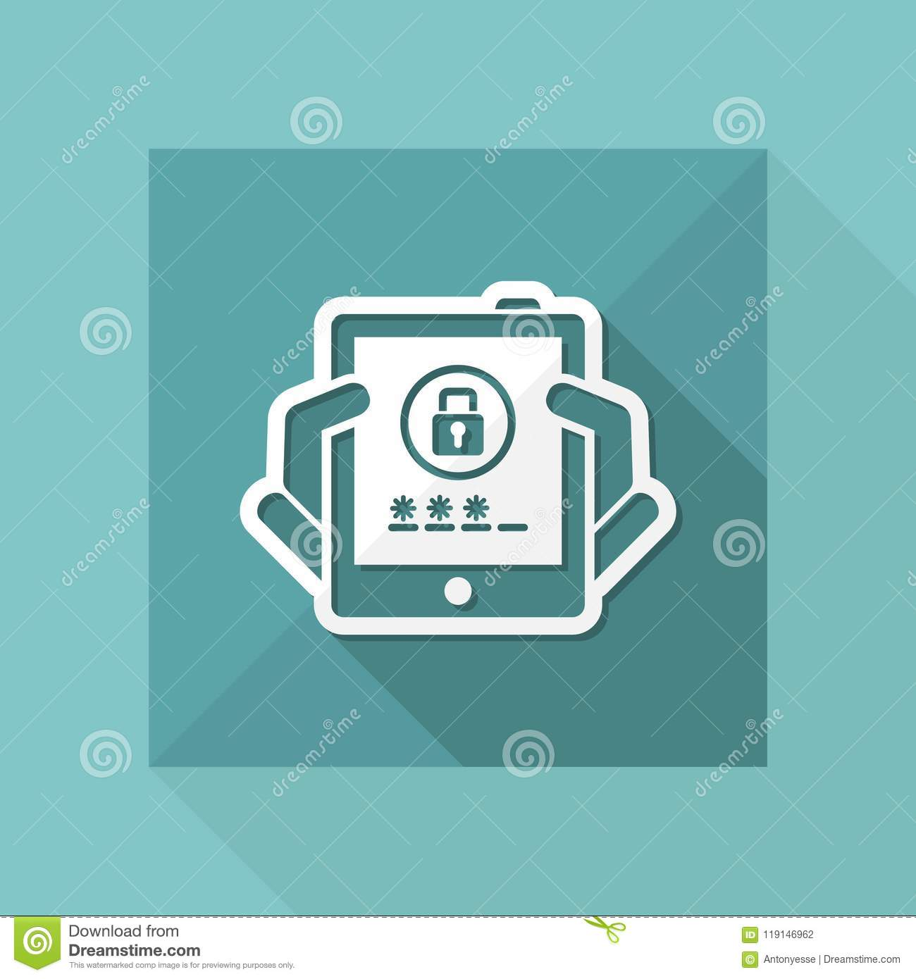 Device password stock vector  Illustration of holding - 119146962