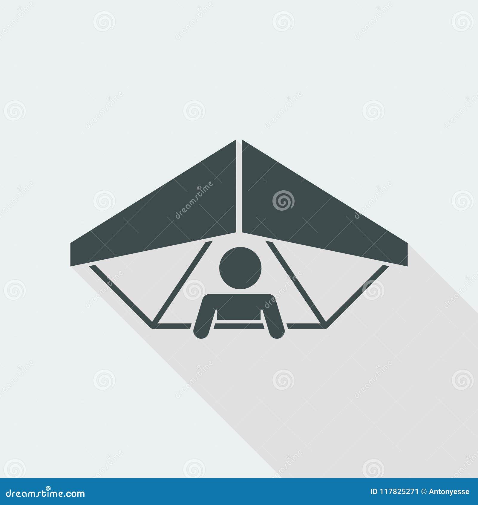 Hang Glider Concept - Minimal Vector Icon Stock Vector