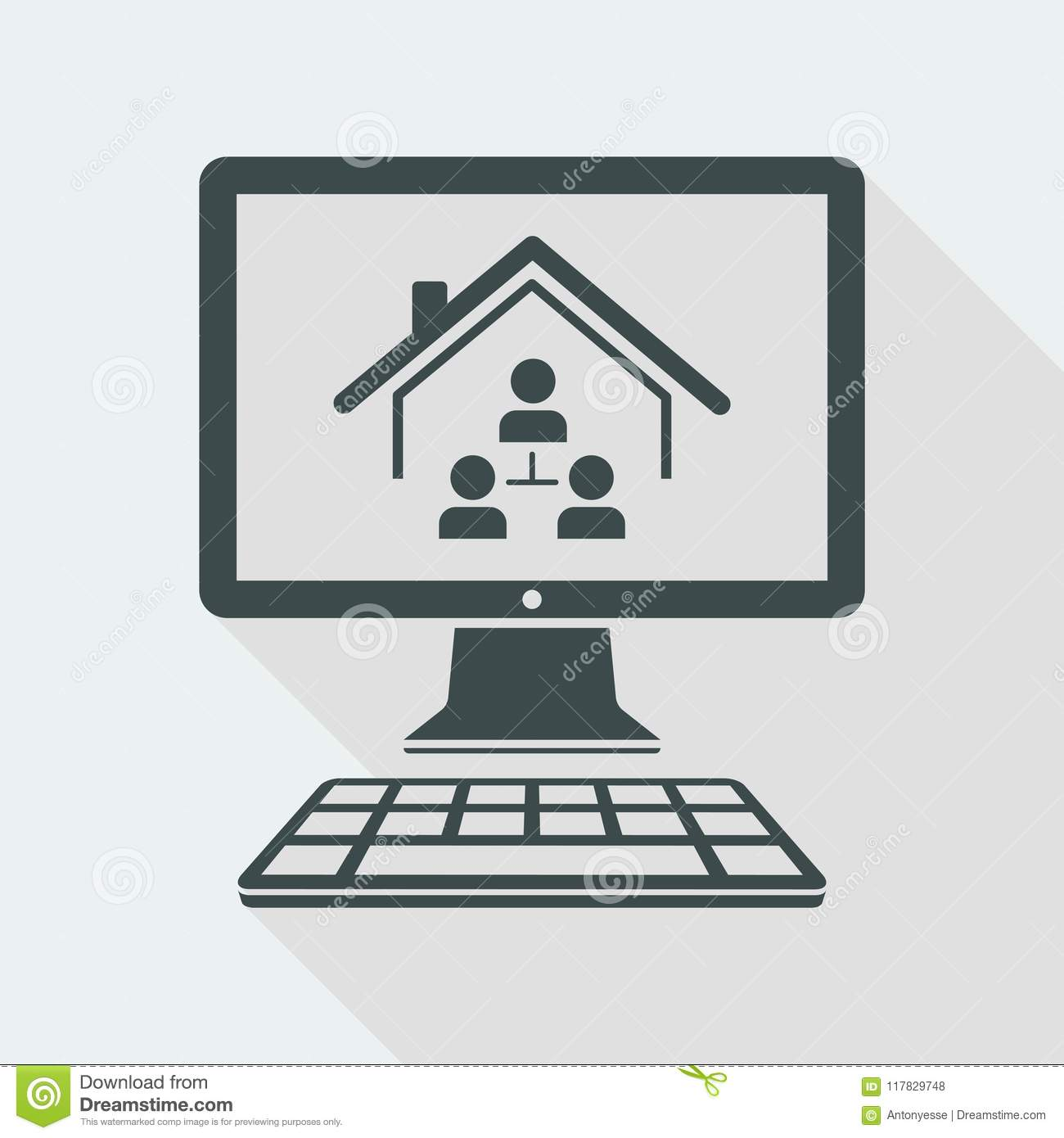Magnificent Home Network System Vector Icon Of Computer Application Interior Design Ideas Pimpapslepicentreinfo
