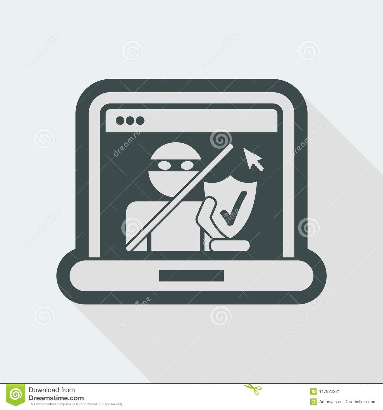 Pc protection stock vector  Illustration of restricted