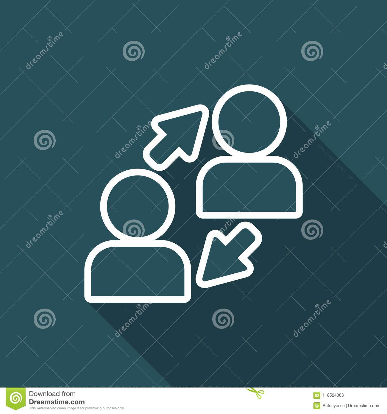 People Connection - Minimal Vector Icon Stock Vector - Illustration ...